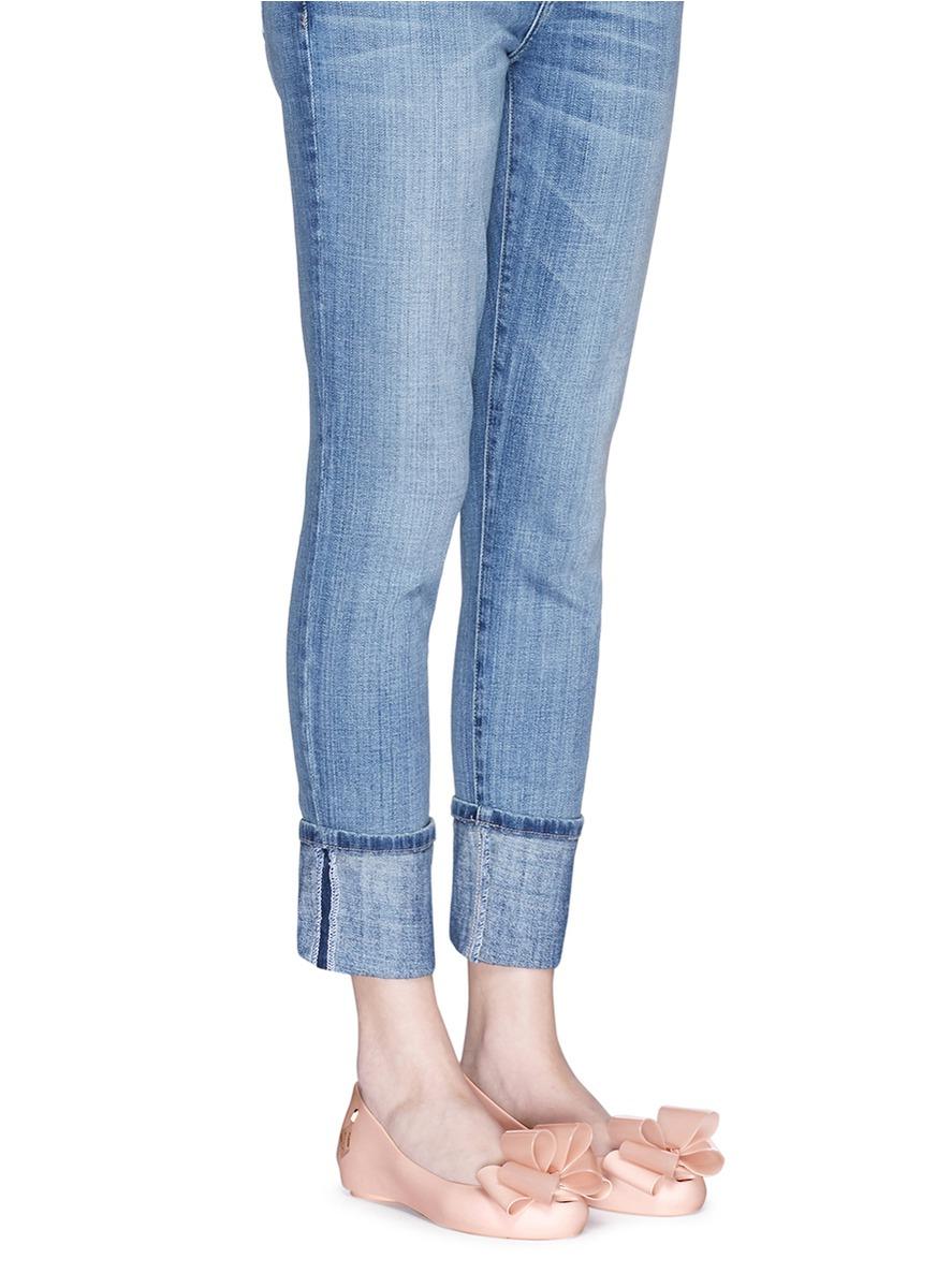 Womens Orange Jeans