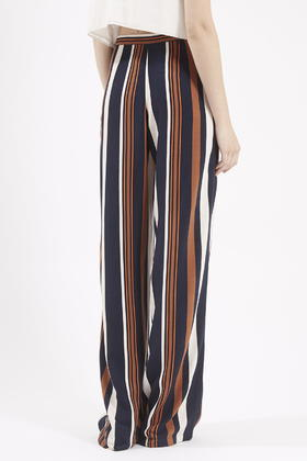 Topshop Tall Stripe Wide Leg Pants in Blue | Lyst