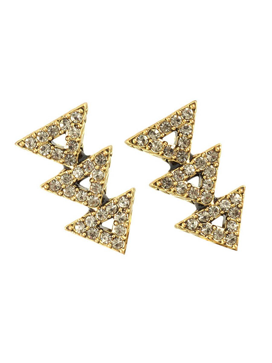 house of harlow 1960 tessellation earrings in gold