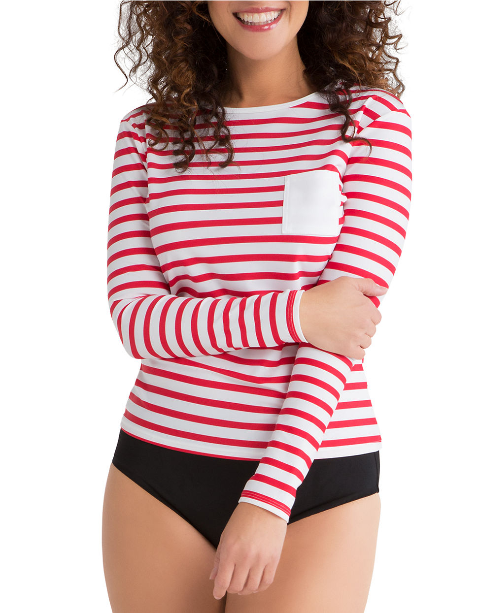 Spanx Striped Sun Shirt in Red