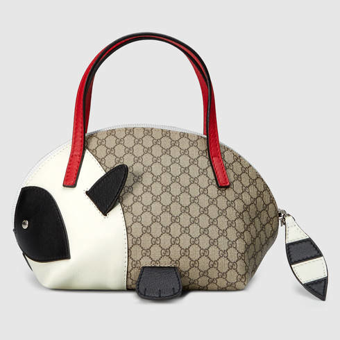 510994d467f Lyst - Gucci Children s Gg Supreme Raccoon Bag in Red