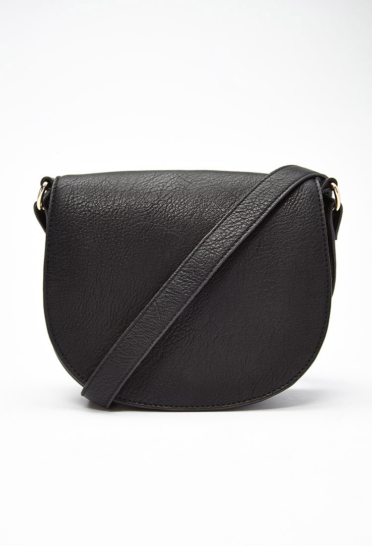 Lyst Forever 21 Studded Faux Leather Crossbody In Black