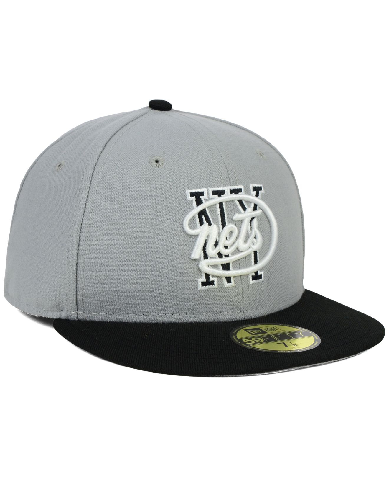 online retailer 63d1c e4faf Lyst - KTZ New York Nets Nba Hwc Team Color 59fifty Cap in Gray for Men