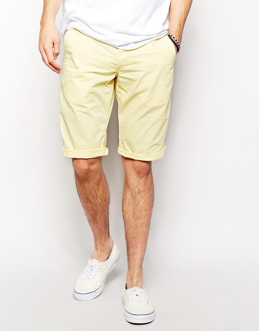 Esprit Chino Shorts in Yellow for Men | Lyst