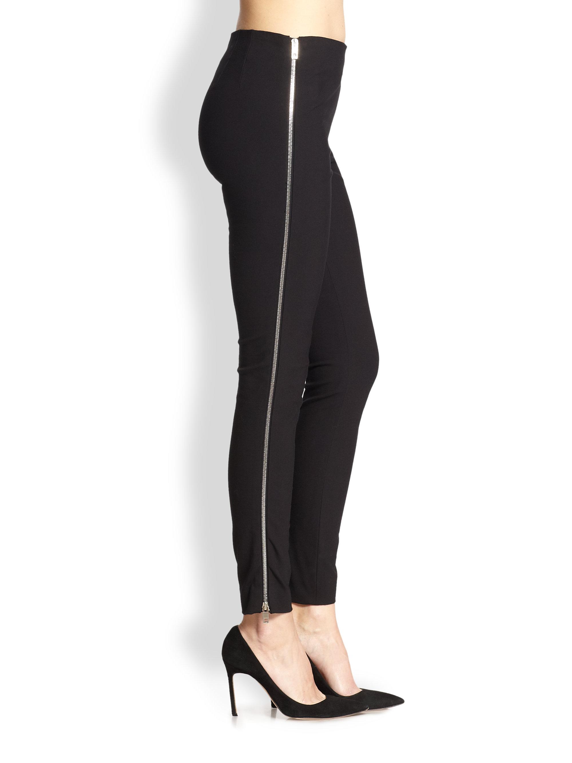 Anatomie Thea Straight-Leg Ankle-Length Pants w/ Side Zip Pockets Details Anatomie
