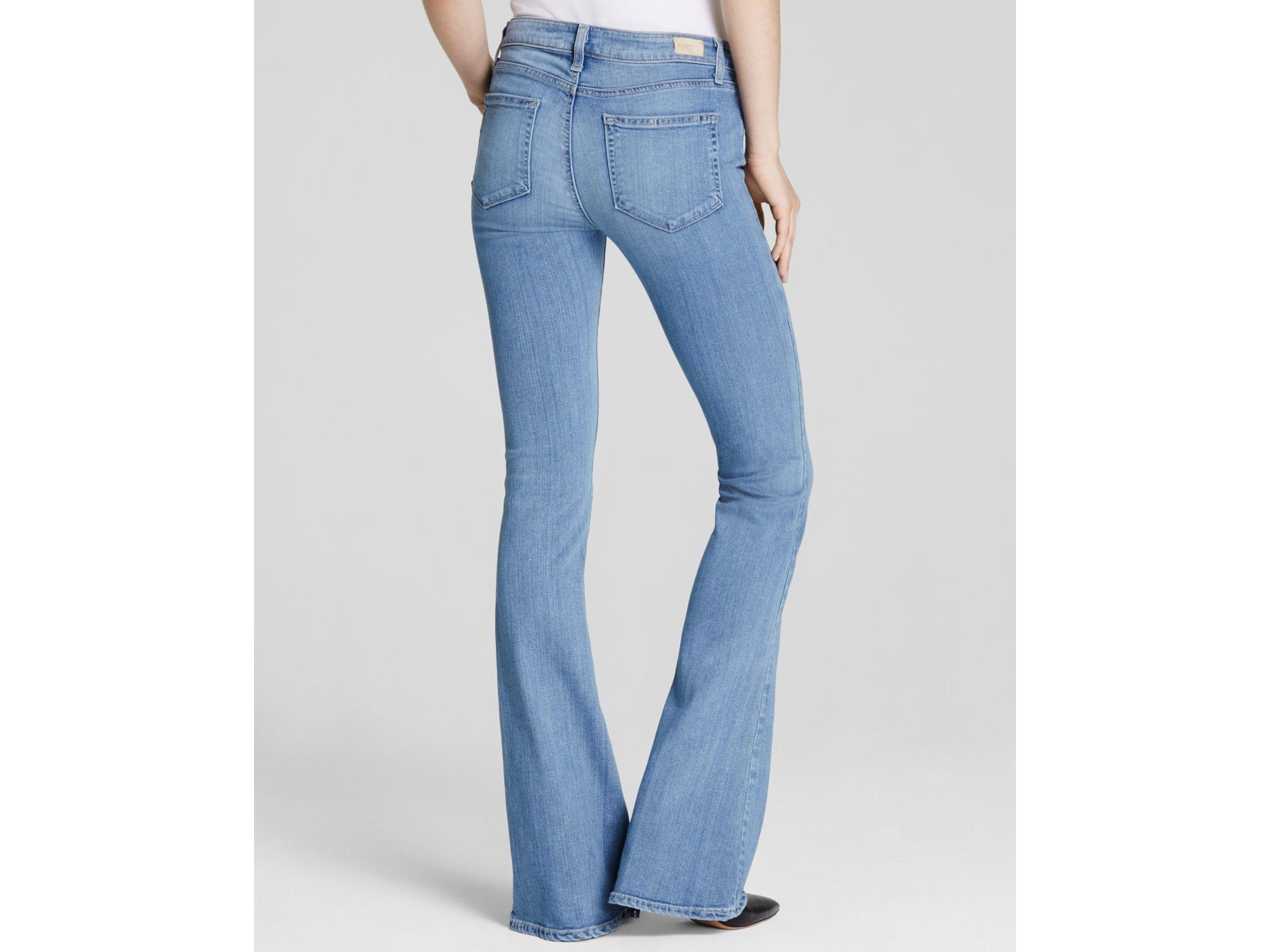 Paige Medium Wash Lou Lou Flare Jeans In Joelle in Blue   Lyst