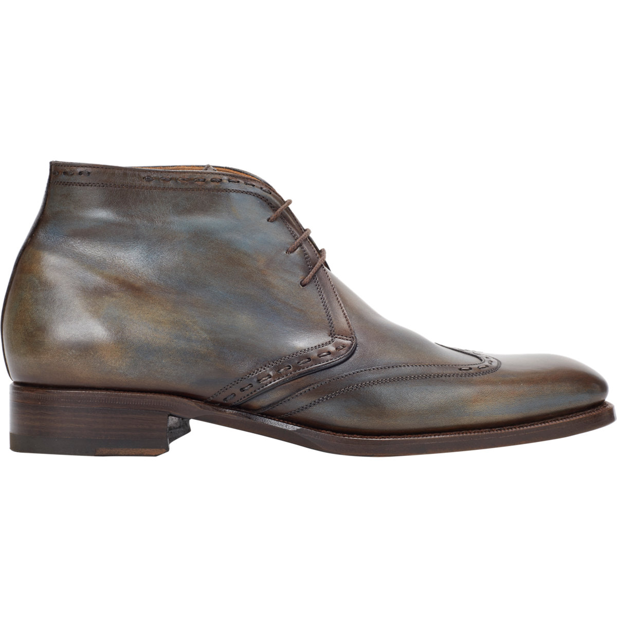 Harris Wingtip Chukka Boots in Brown for Men | Lyst