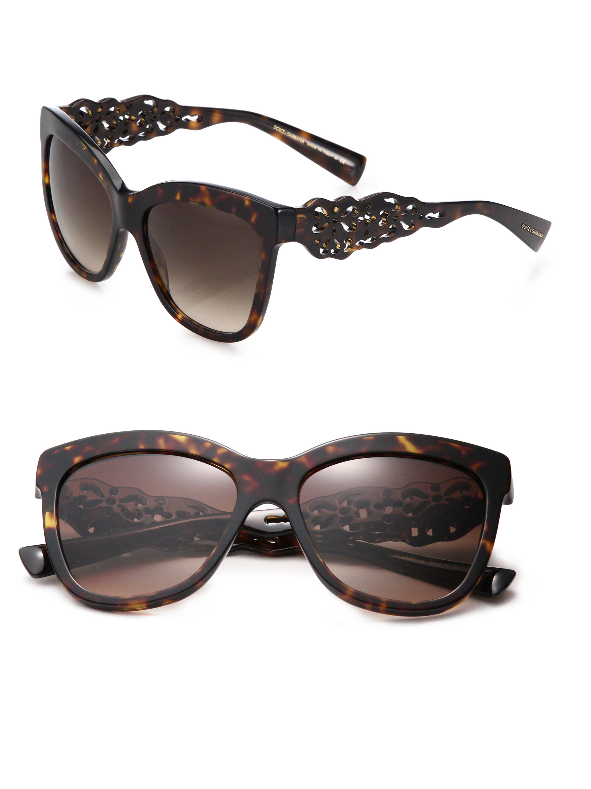 Dolce Gabbana Filigree Sunglasses  dolce gabbana filigree arm 55mm square sunglasses in brown lyst