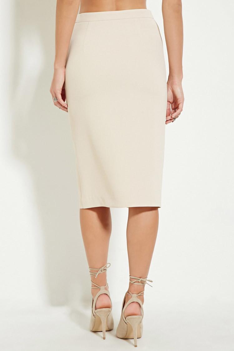 forever 21 embellished high slit skirt in lyst