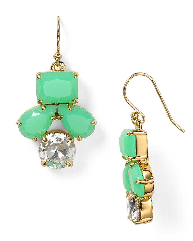 cb2d29369c6e8 Lyst - Kate Spade Secret Garden Drop Earrings in Green