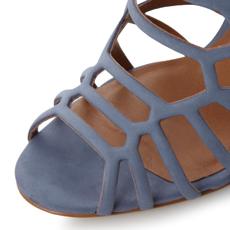 249ca366b6d Steve Madden Slithur High Heeled Cage Sandals in Blue - Lyst