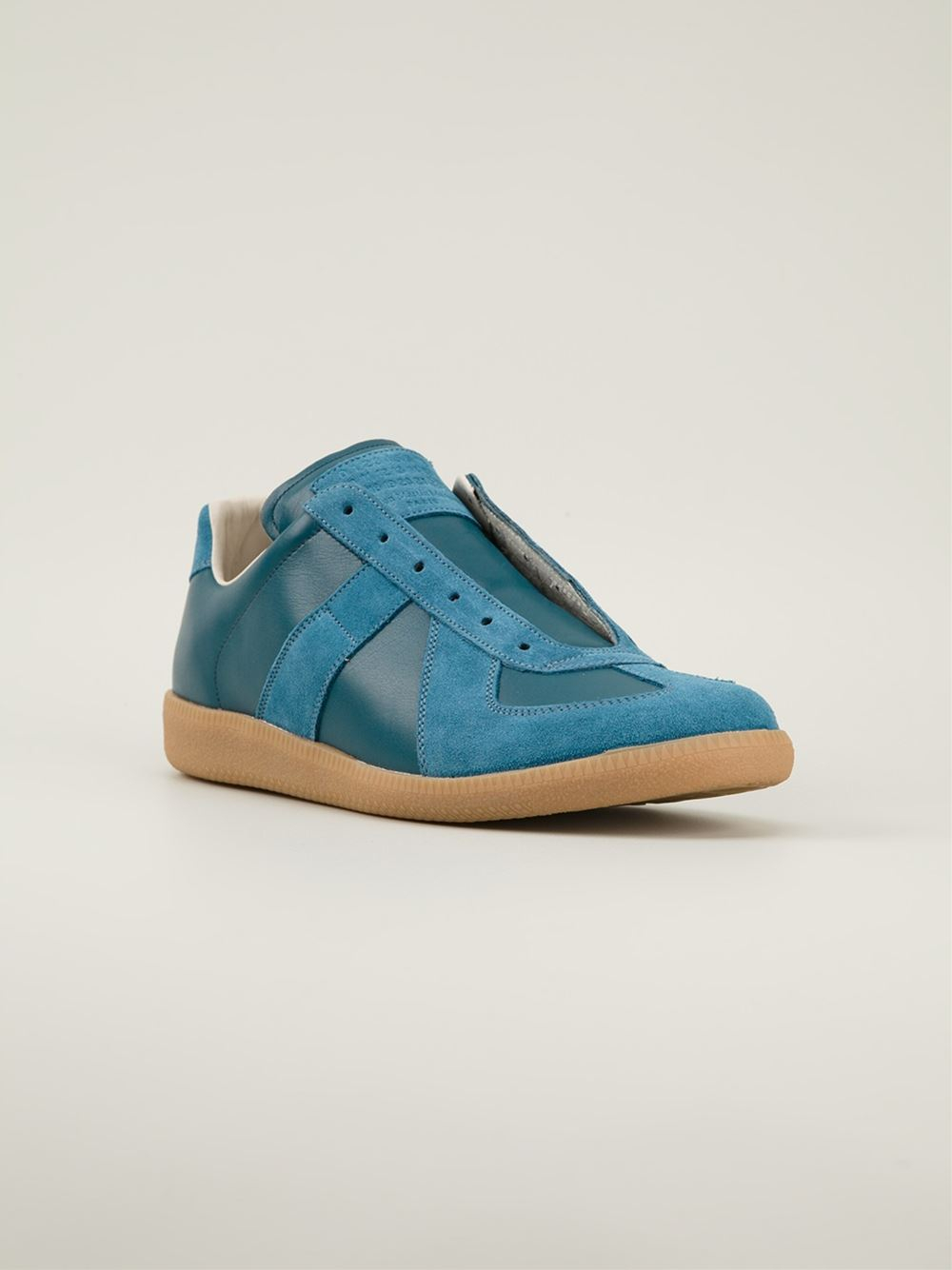 Maison martin margiela low top sneakers in blue for men lyst for Maison