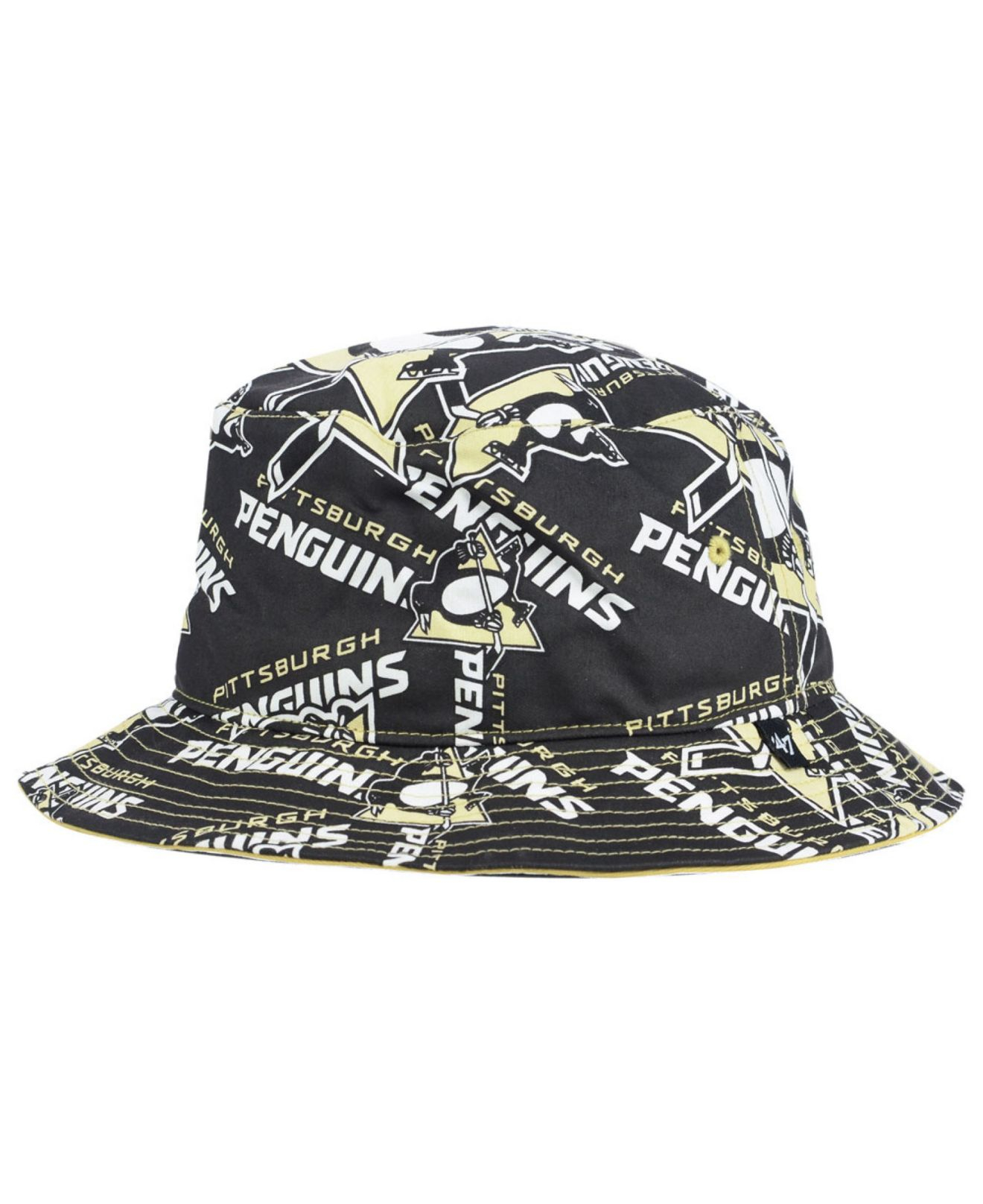 ... cheapest lyst 47 brand pittsburgh penguins bucket hat in black 15418  305cc fd4d0b8c8
