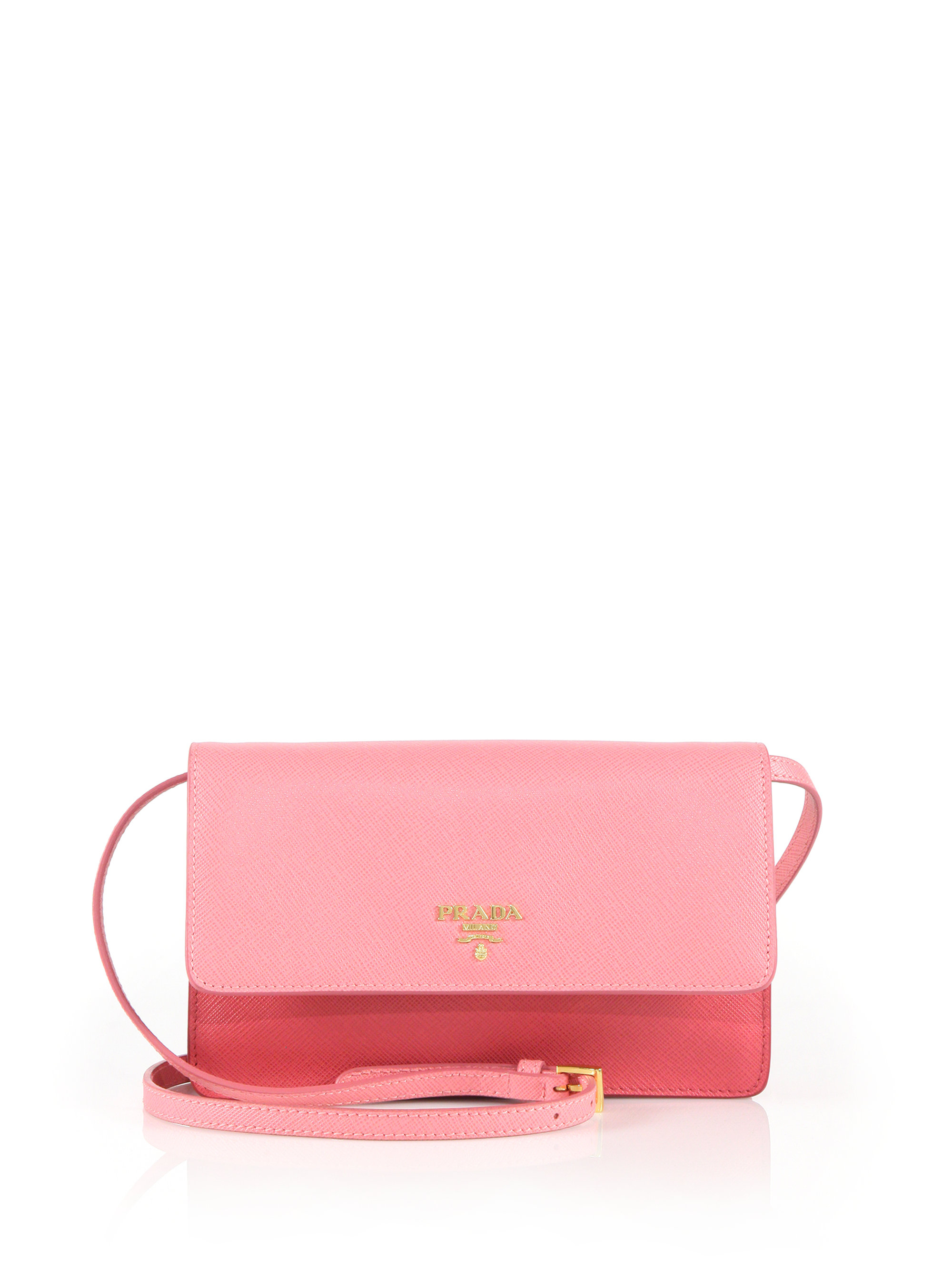 7e8ef1275ae5 ... switzerland lyst prada saffiano lux crossbody bag in pink ee0e1 69998  ...