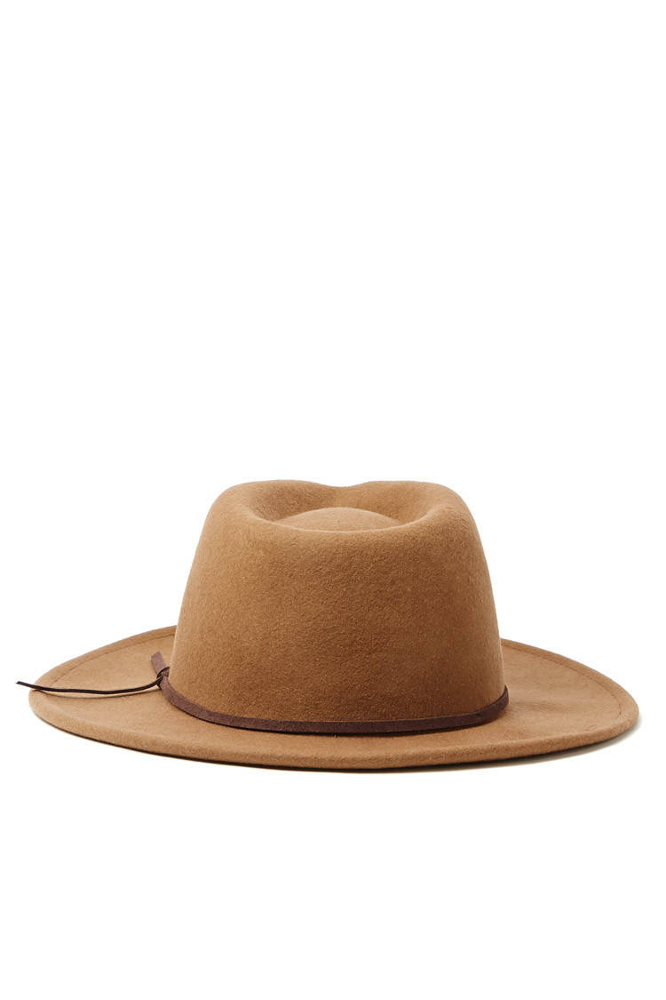 c61ad916257 Lyst - Forever 21 Men Wide-brim Wool Fedora in Natural