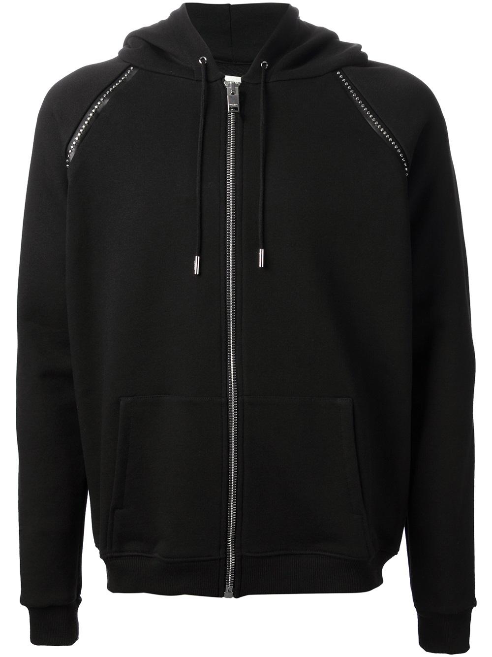 Saint Laurent Studded Hoodie In Black For Men Lyst