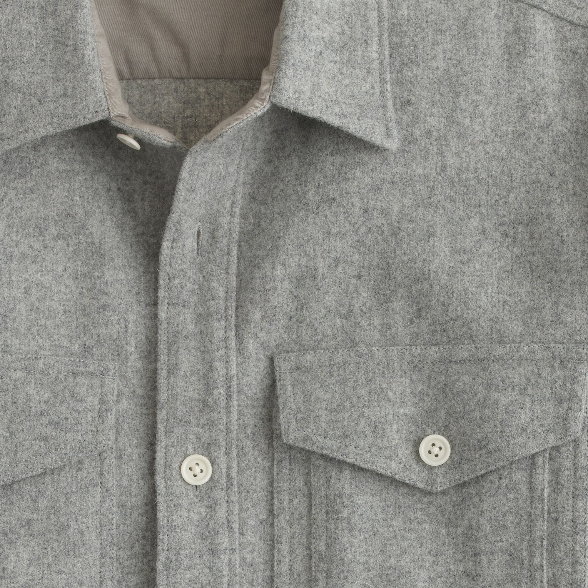 J Crew Wallace Amp Barnes Hunting Overshirt In Gray For Men