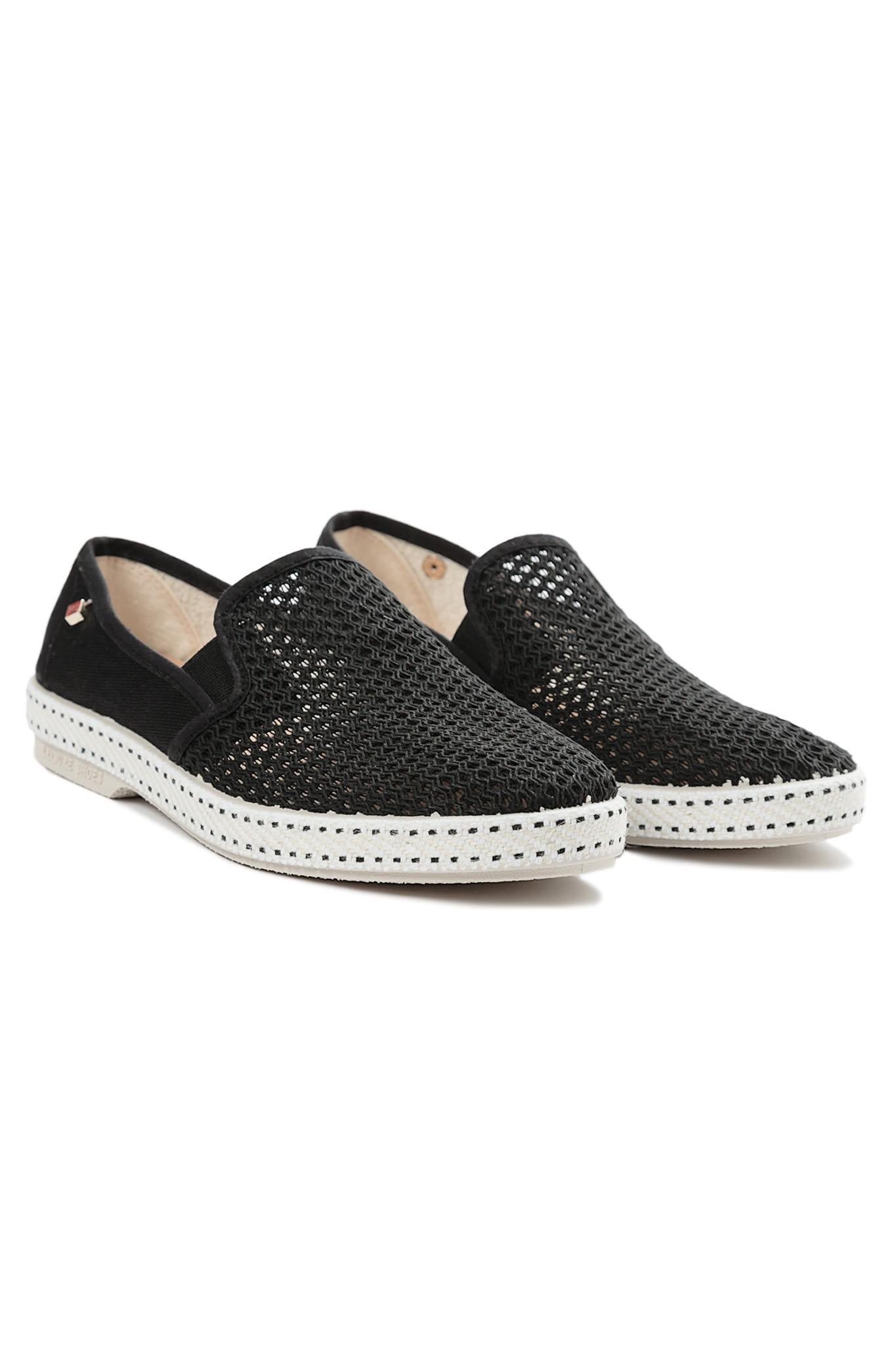 rivieras slip on sneakers in black noir lyst
