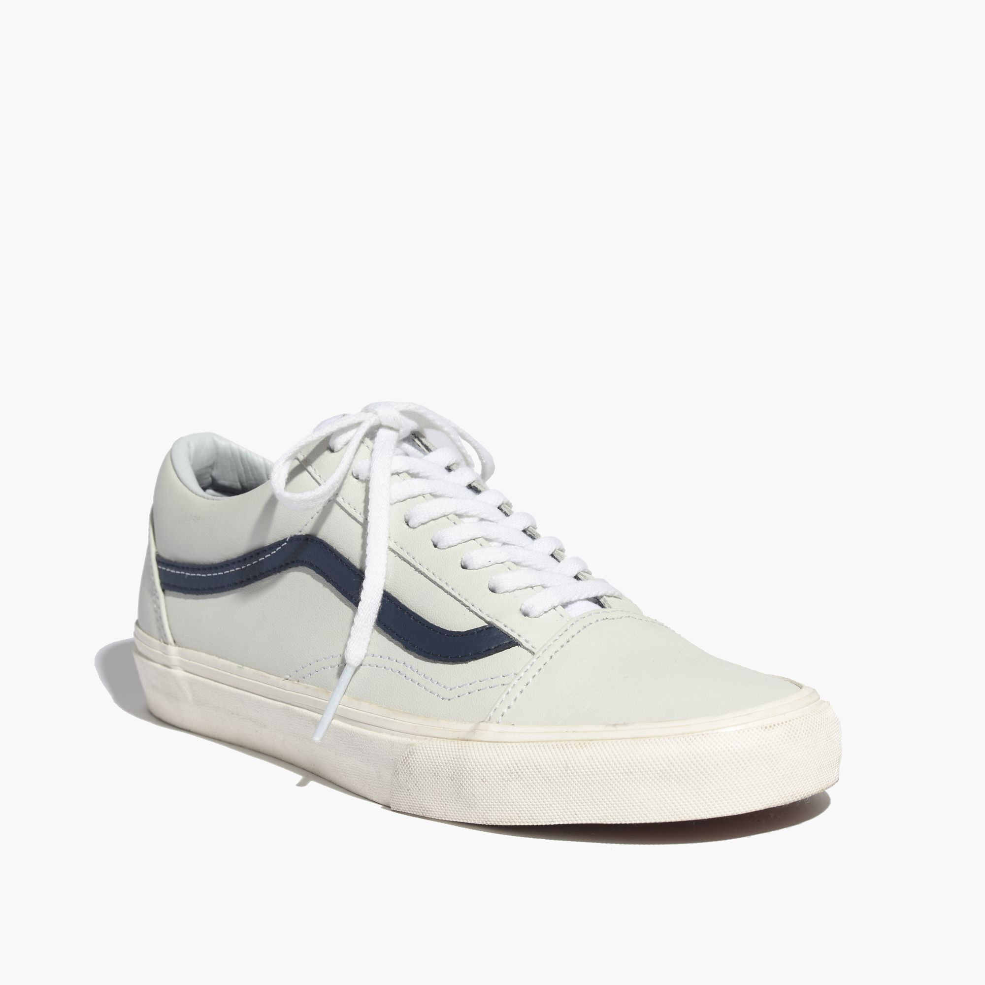cdc5971c8035 Madewell Vans® Old Skool Lace-Up Sneakers In Leather in White - Lyst