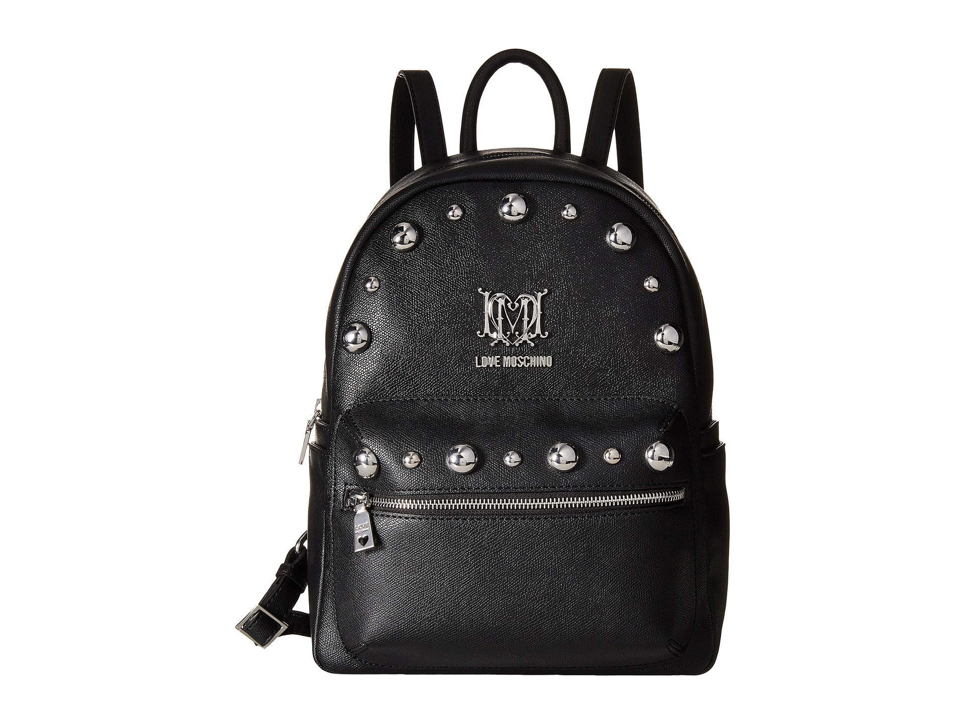 Lyst - Love Moschino Studs Backpack in Black ad245d0363e5d