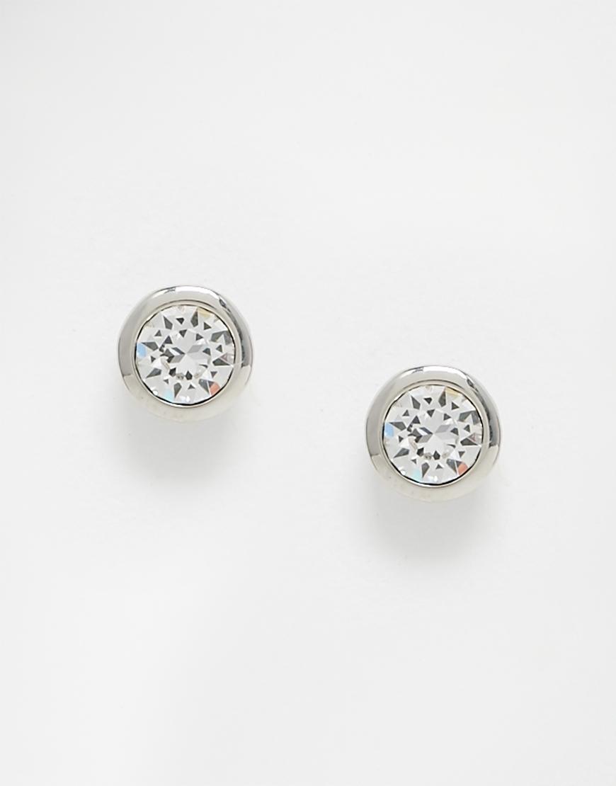 6252e4f50 ... Ted Baker Sinaa Crystal Stud Earrings at Jewellery4.com; Lyst ...