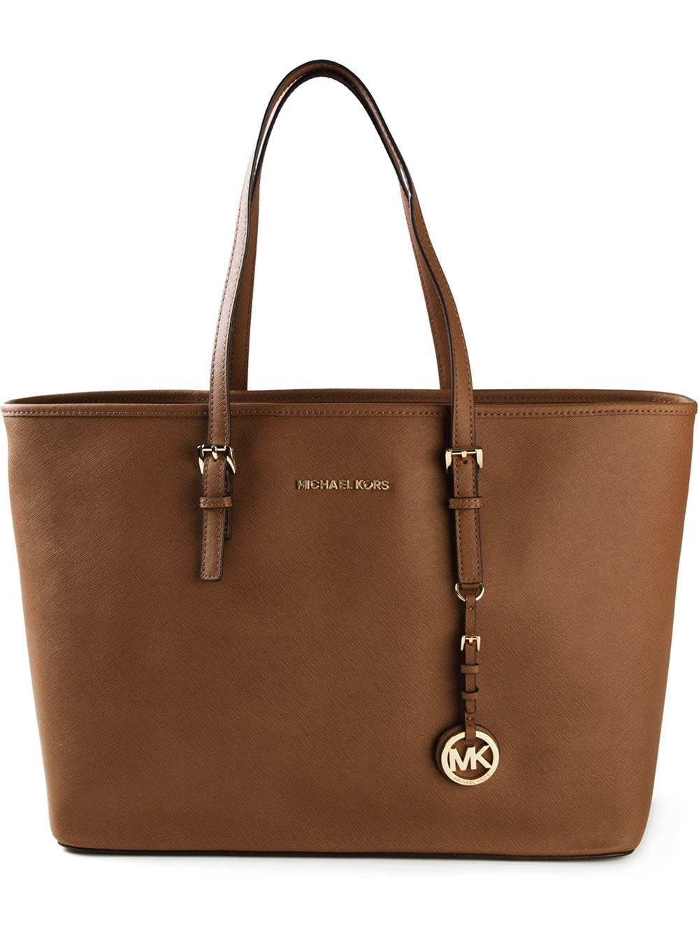 Lyst Michael Michael Kors Jet Set Travel Tote In Brown
