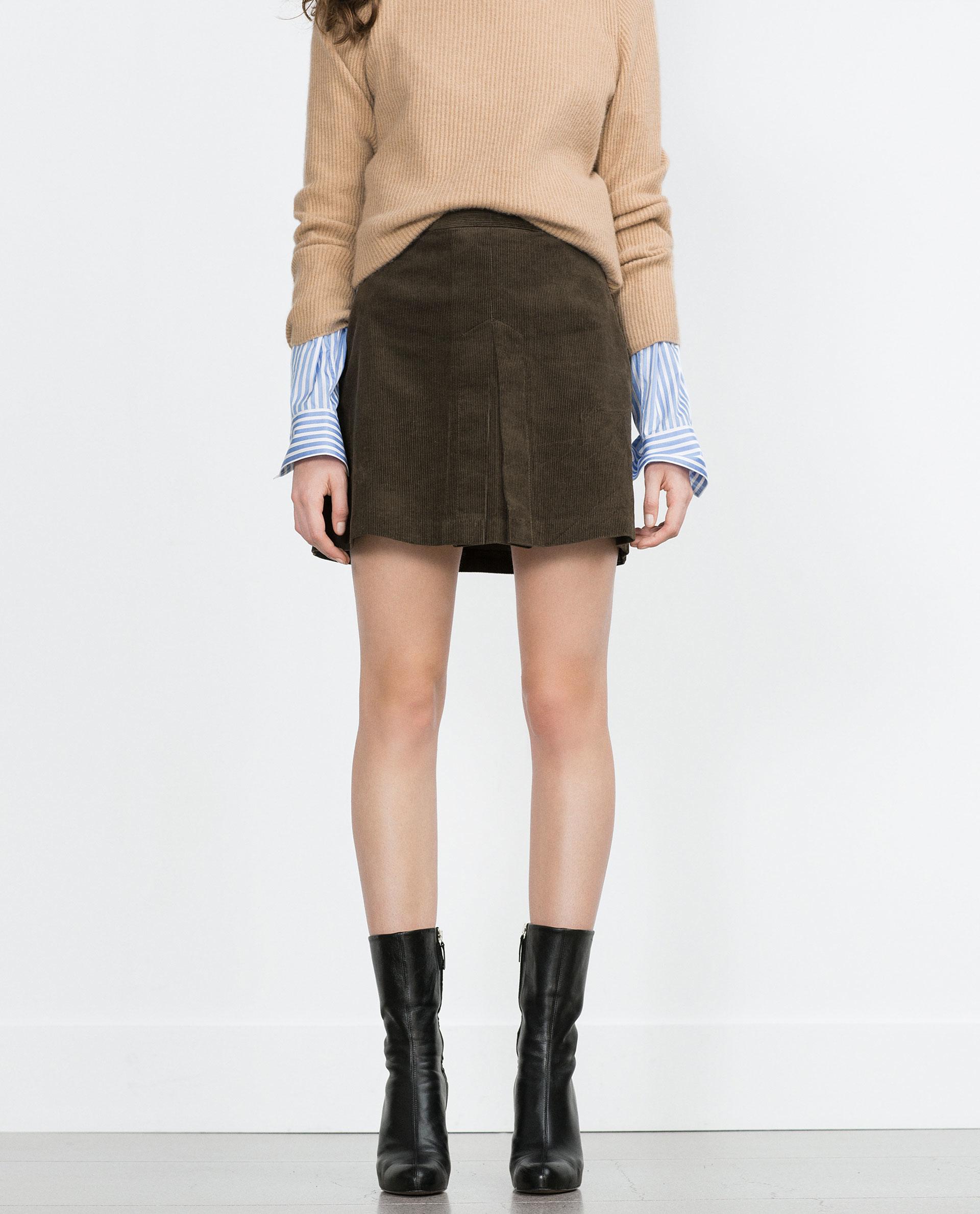 zara a line skirt in lyst