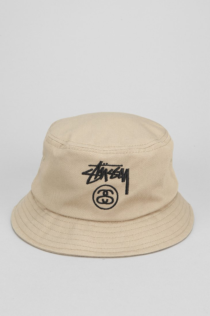 fee8931c0888bb Stussy Stock Lock Bucket Hat in Natural for Men - Lyst
