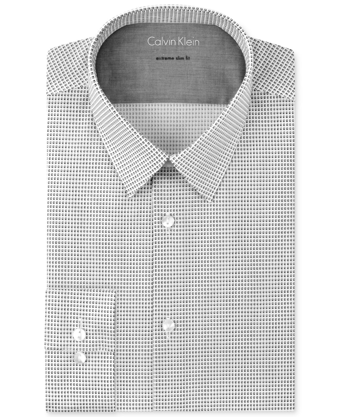 Calvin klein x extra slim shadow geo print dress shirt in for Calvin klein x fit dress shirt
