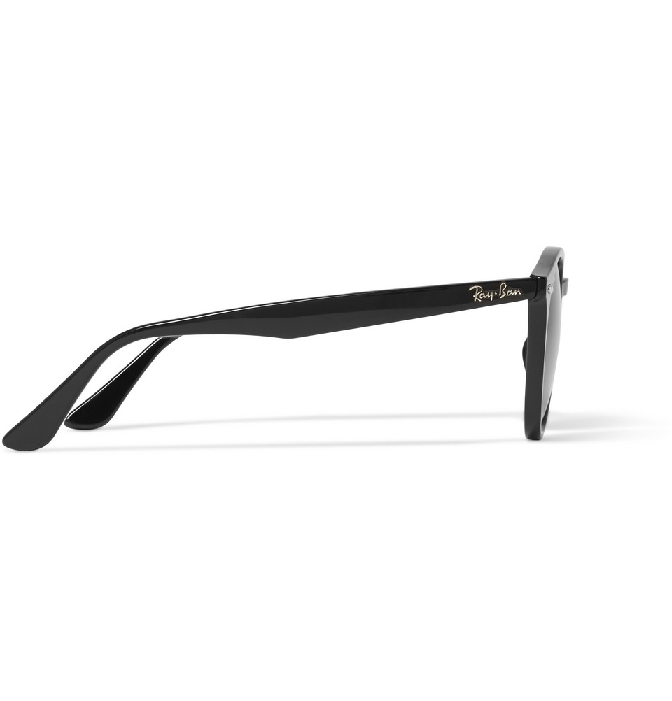 1607923dbb Ray-Ban 2180 Round-frame Acetate Sunglasses in Black for Men - Lyst