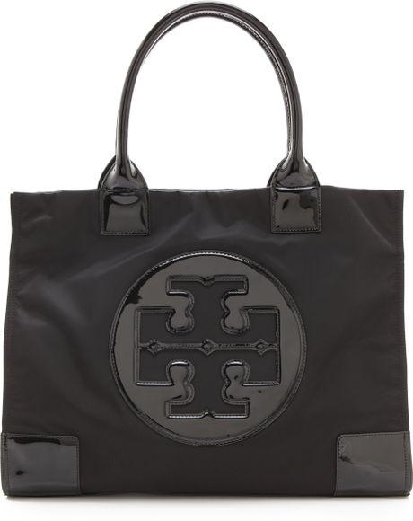 Tory Burch Nylon Ella Tote - Black in Black (black/ black)