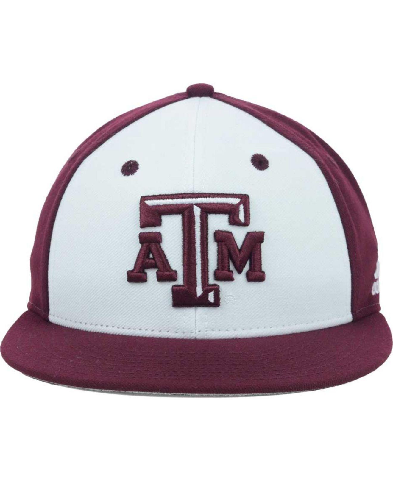 1050d49ed75 Lyst - adidas Texas A M Aggies Ncaa On Field Baseball Cap in White ...