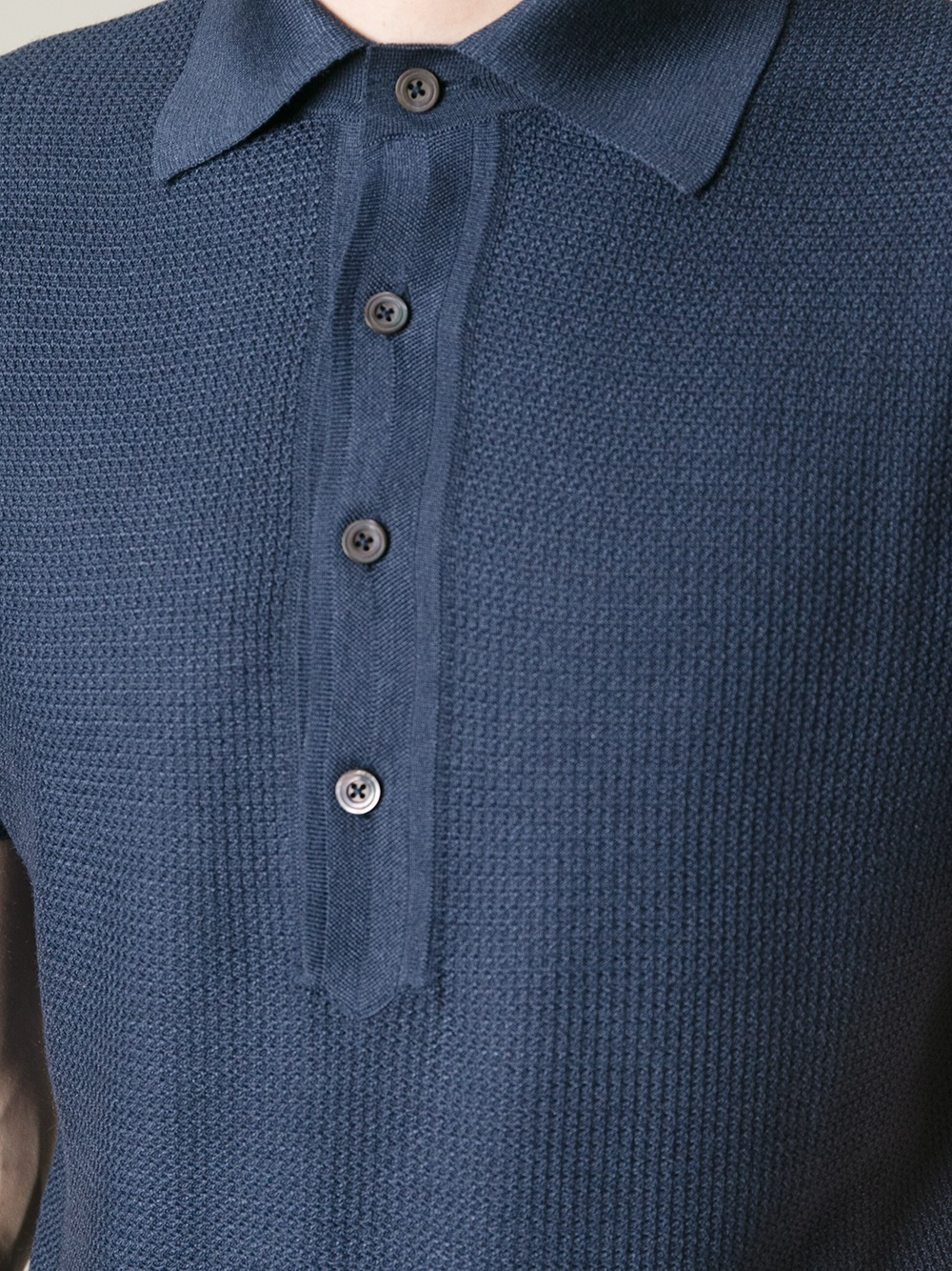 Lyst Tom Ford Textured Polo Shirt In Blue For Men