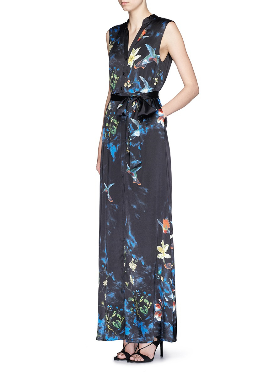 Lyst Alice Olivia Marianna Enchanted Forest Print