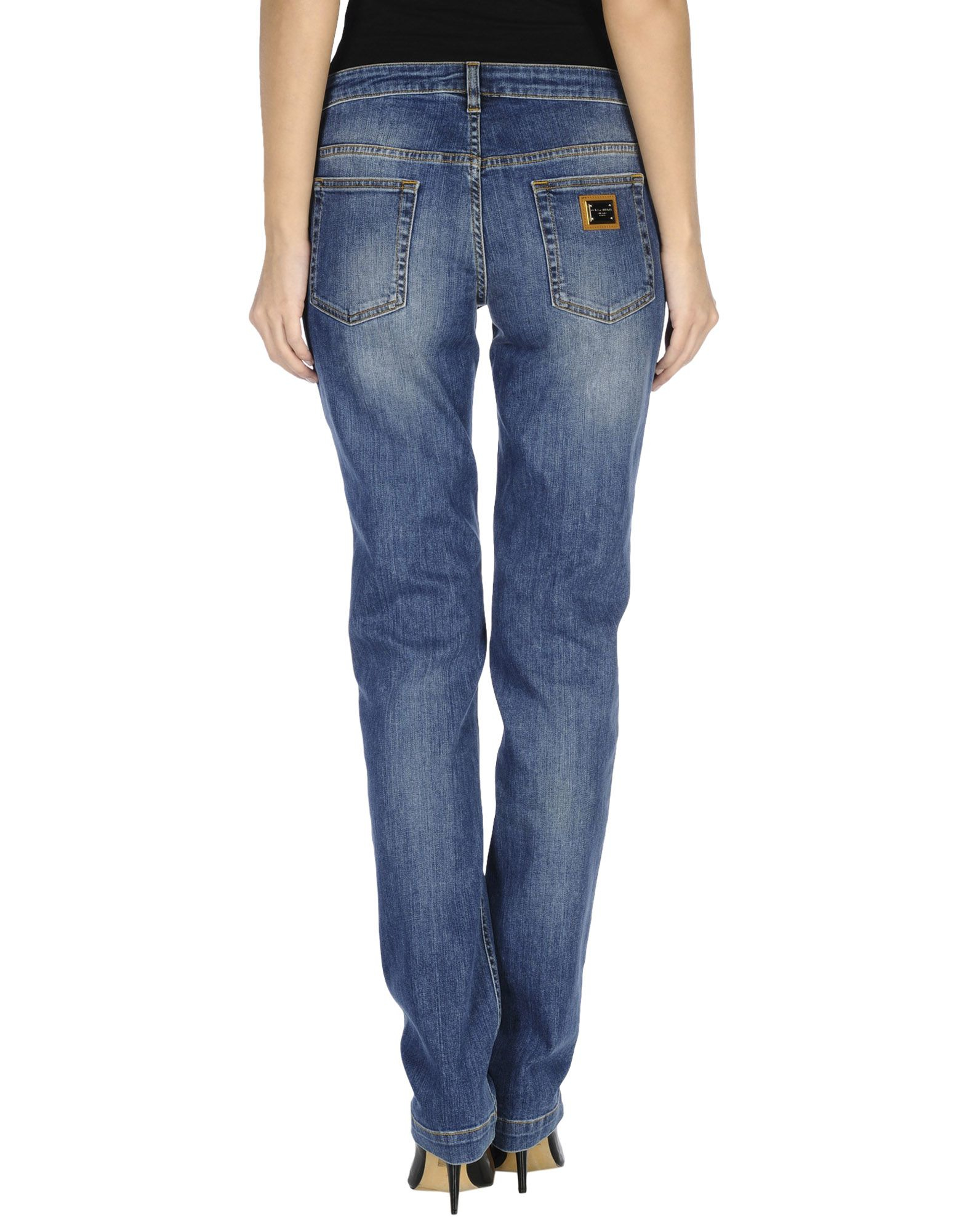 lyst dolce gabbana denim trousers in blue. Black Bedroom Furniture Sets. Home Design Ideas