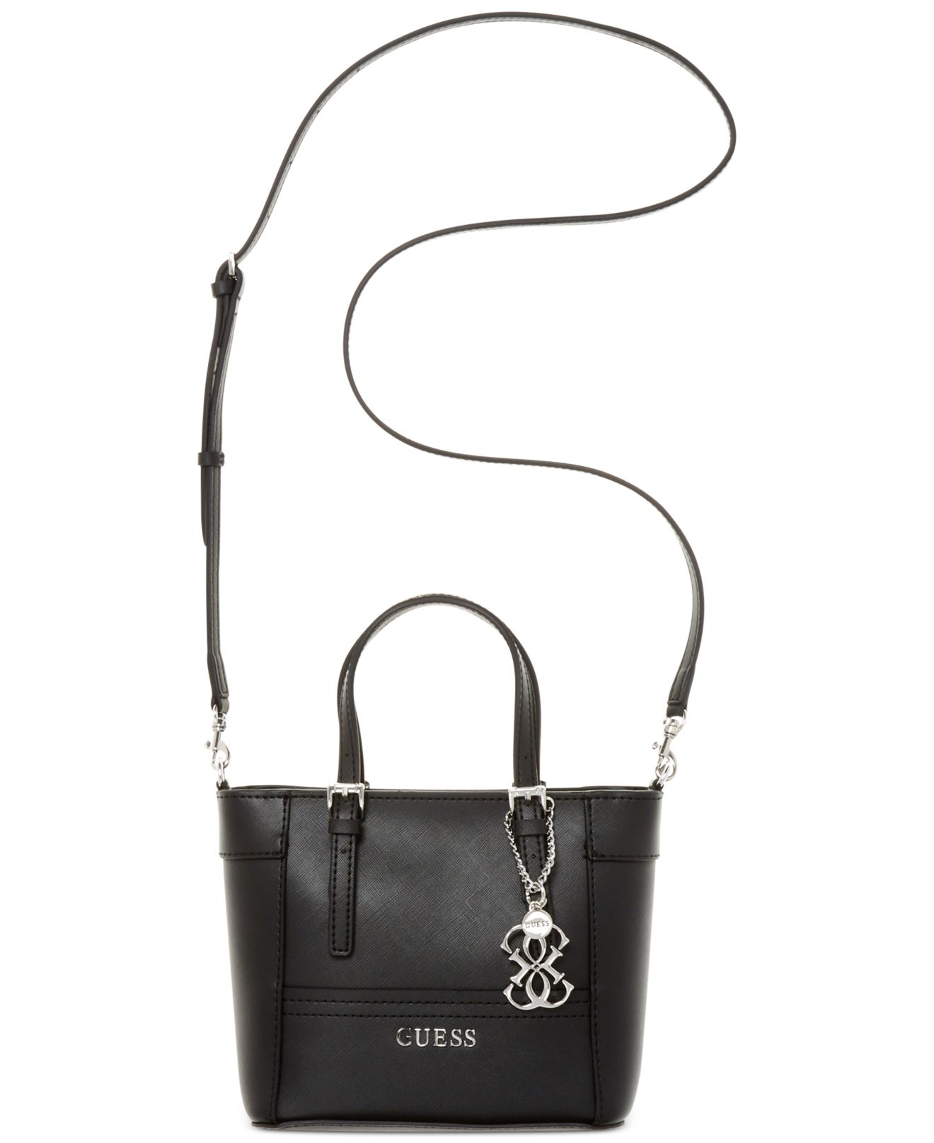 Lyst - Guess Delaney Petite Tote With Crossbody Strap in Black 8e0f007bcfd7b