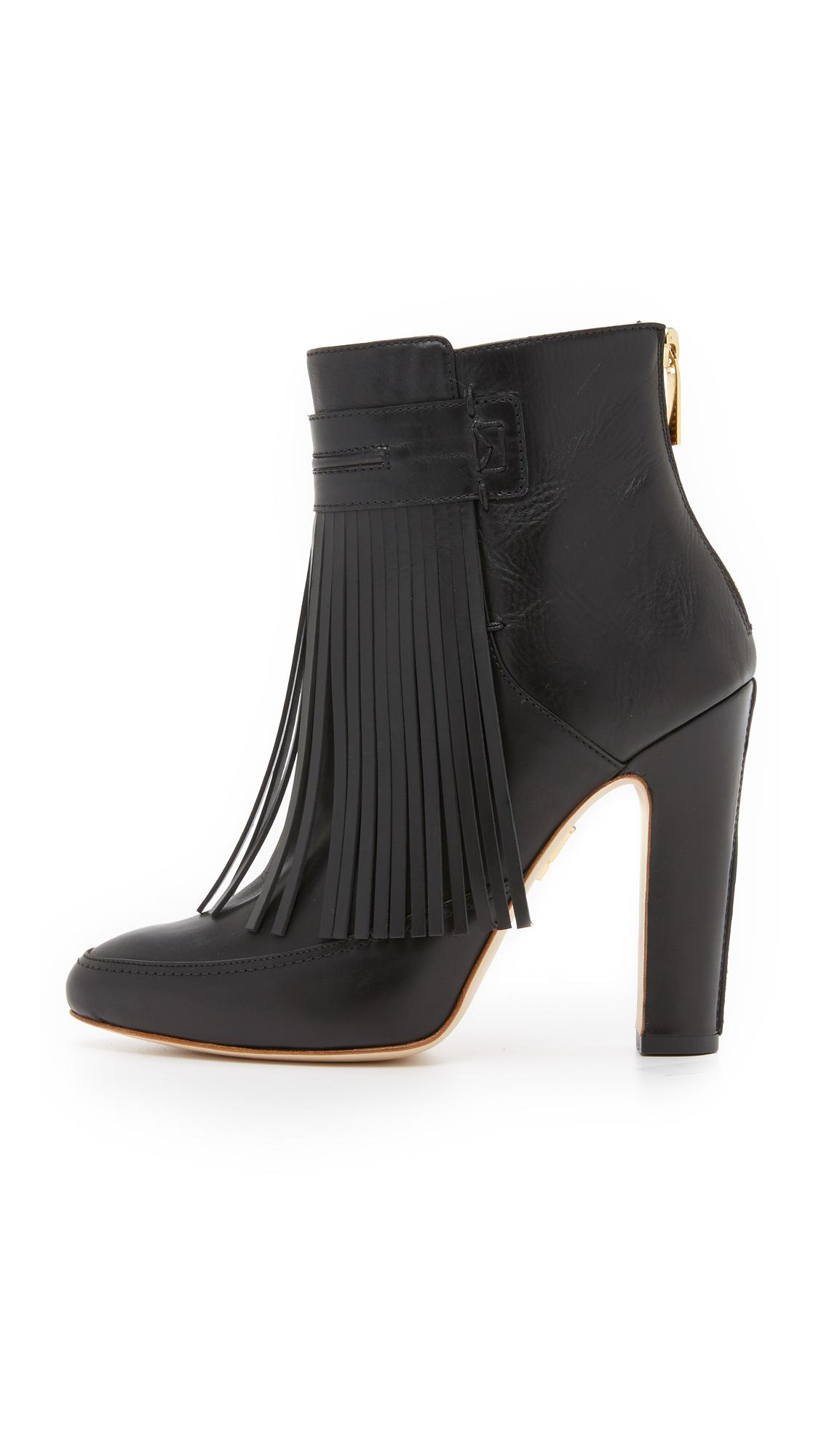 Lyst Maiyet Blake Fringe High Heel Booties In Black