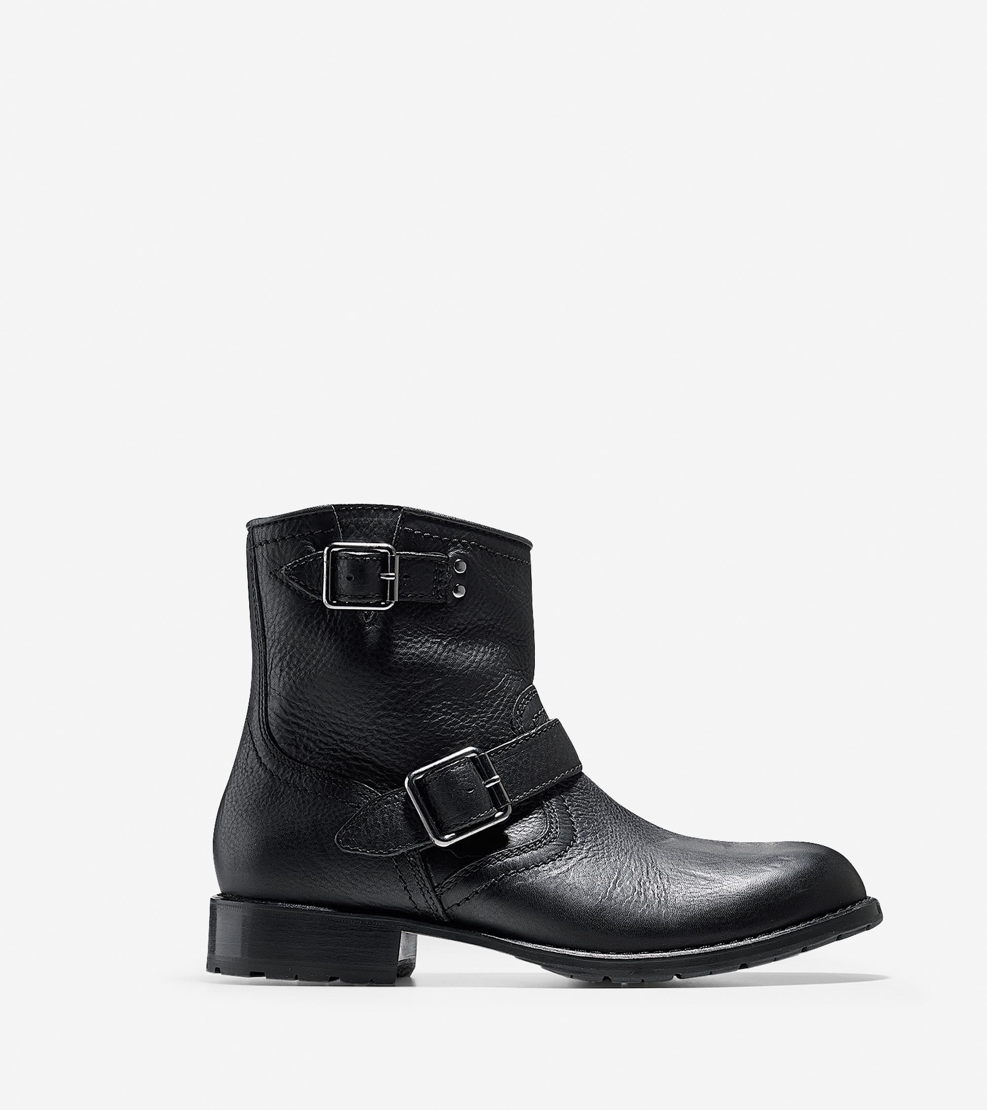 cole haan wayne zip boot in black for lyst