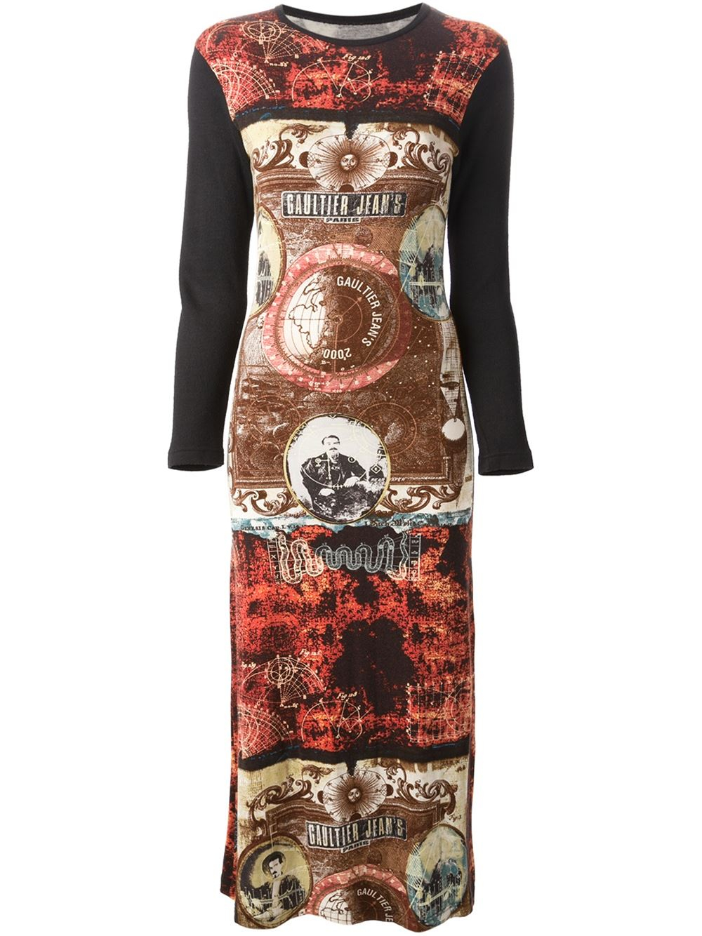 Jean paul gaultier printed t shirt dress in multicolor - Jean paul gaultier puissance 2 ...