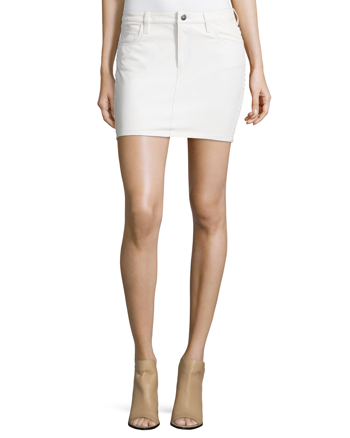 iro wirt five pocket leather skirt in white lyst