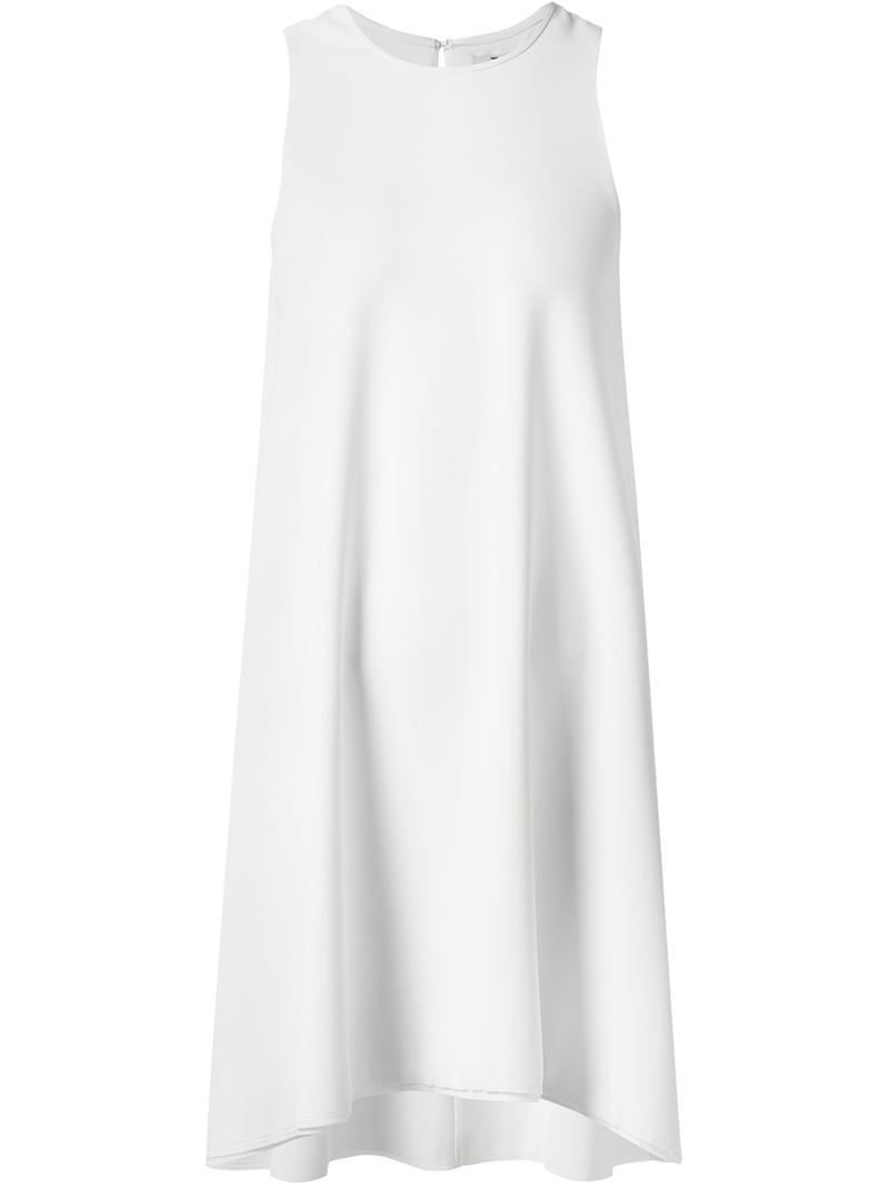 T by alexander wang Flared Long Tank Top in White | Lyst