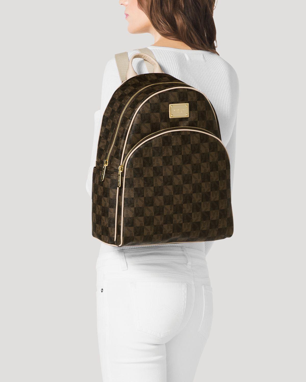 Lyst - MICHAEL Michael Kors Backpack Jet Set Item Checkerboard Logo ... 8b6de36da1241