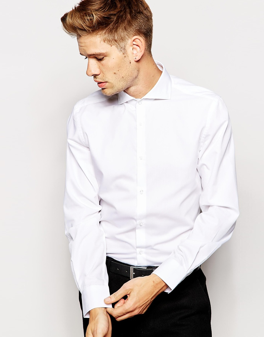 Esprit Formal Shirt With Cut Away Collar In Slim Fit in White for ...