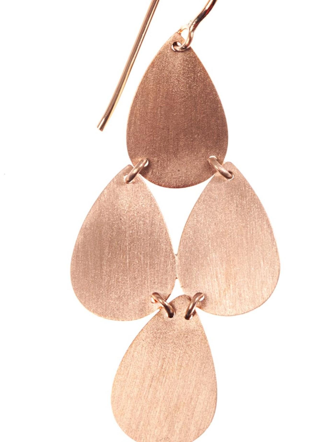 Irene Neuwirth Rose Gold Chandelier Earrings In Pink Lyst