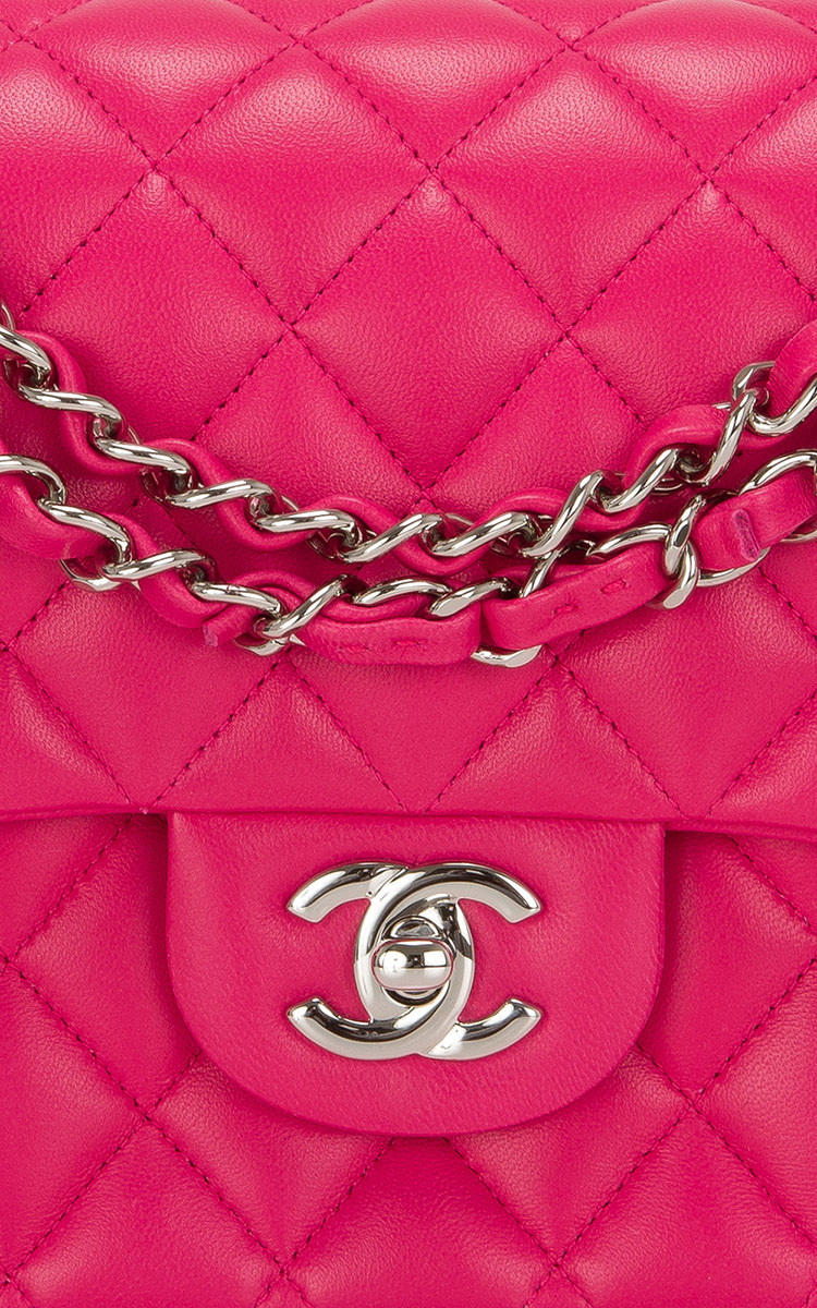 a3f7b5dcdd9921 Madison Avenue Couture Chanel Fuchsia Pink Quilted Lambskin Large ...