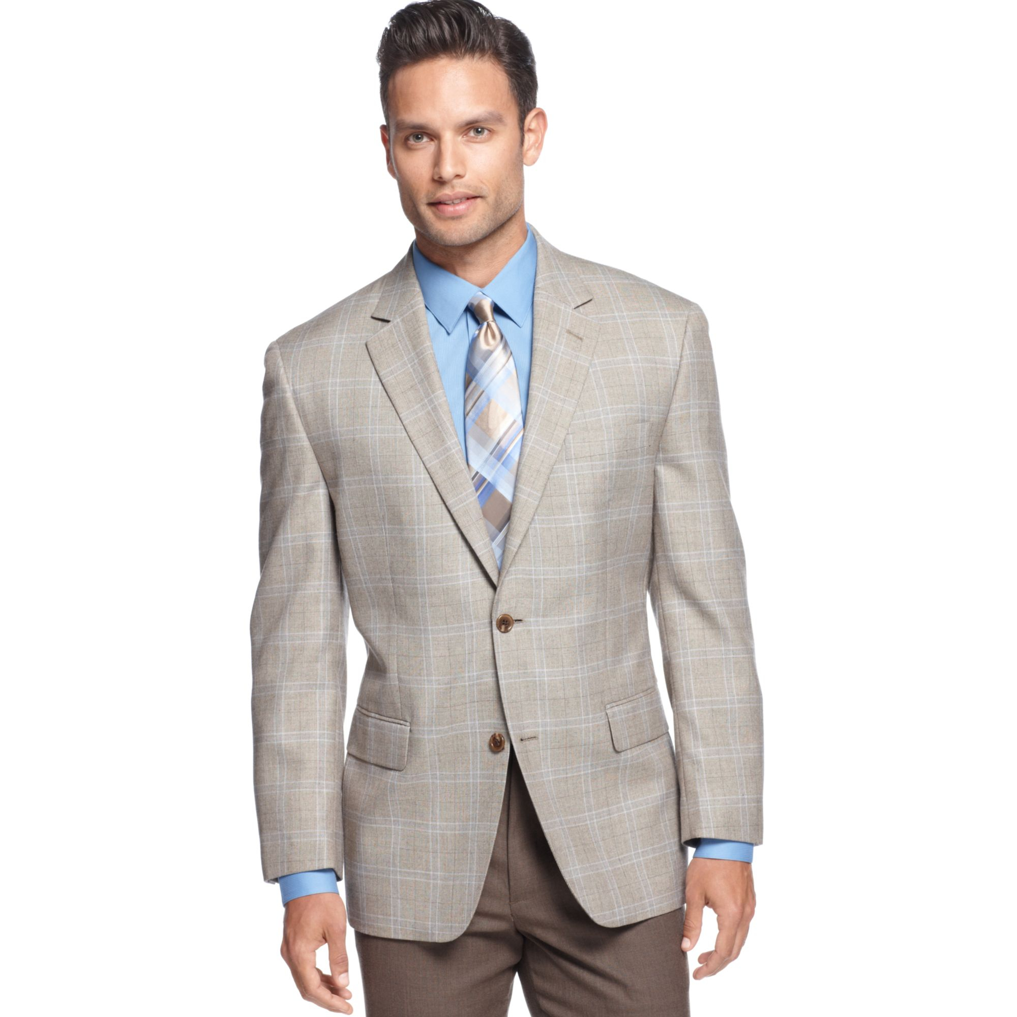 Lyst Michael Kors Michael Light Tan Windowpane Sport