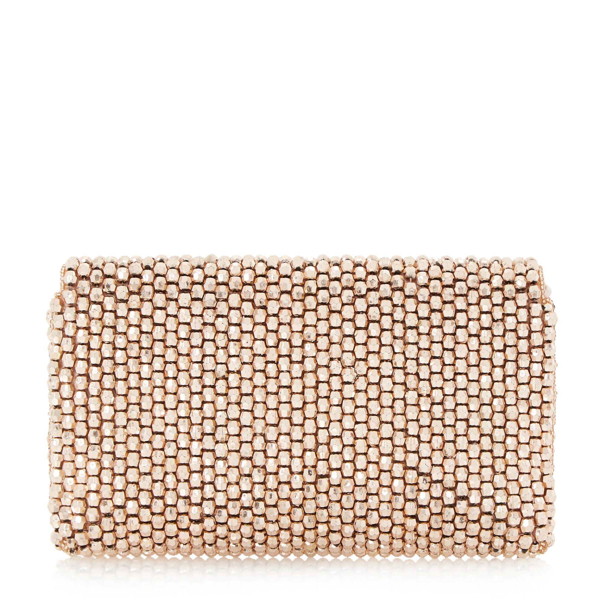 Dune Eternity Beaded Clutch Bag in Pink (Rose Gold) | Lyst