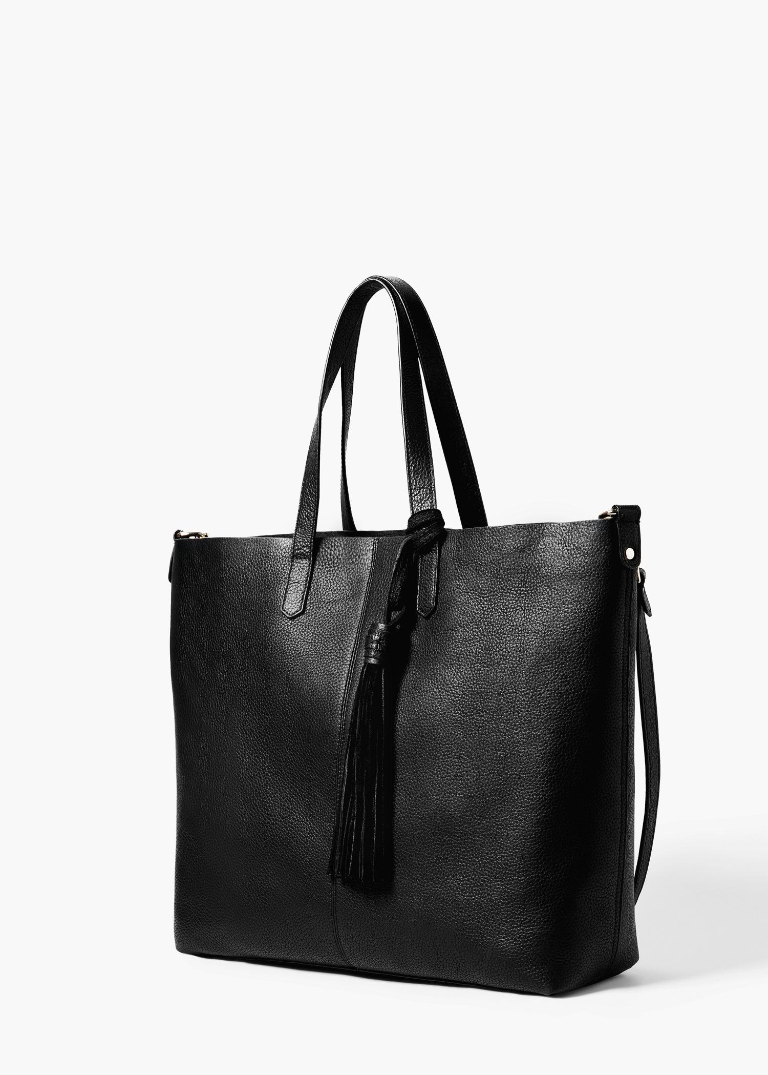 Relatively Lyst - Mango Faux-leather Shopper Bag in Black CN76