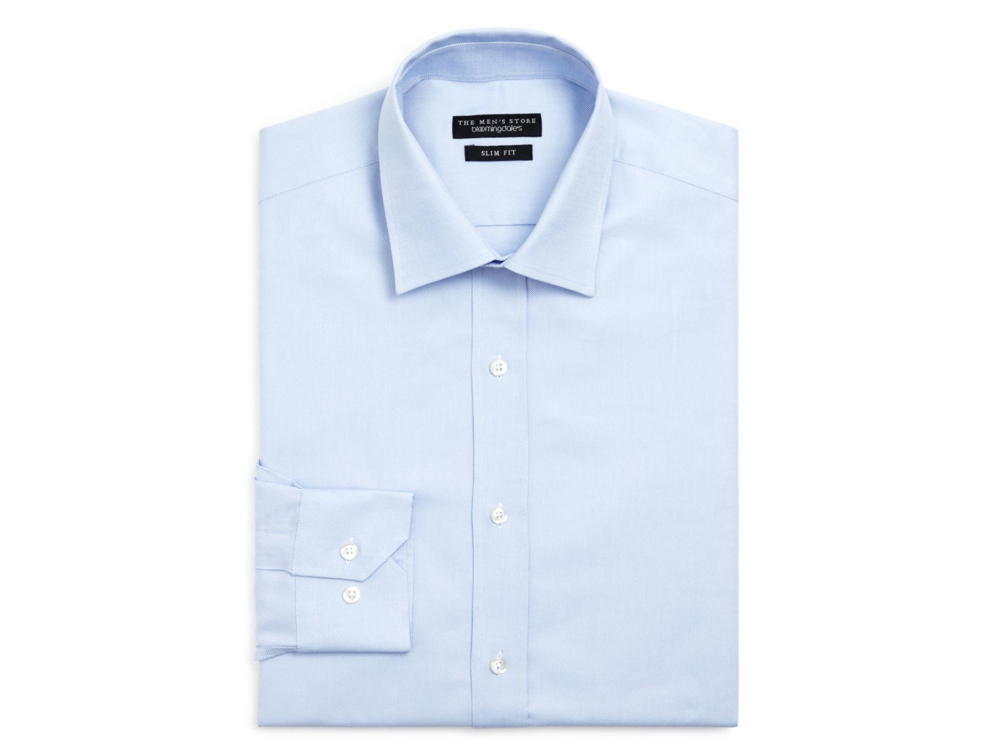 lyst bloomingdales royal oxford slim fit dress shirt in