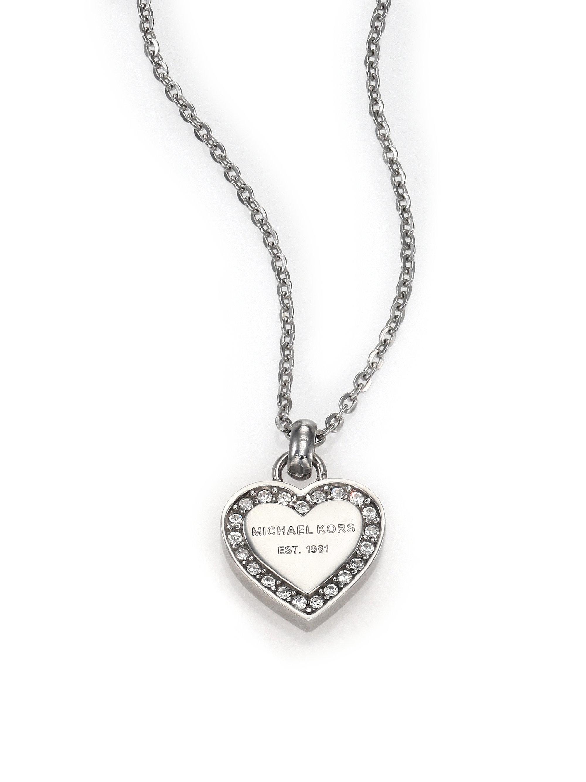 9bbc4d993778 michael kors crystal heart pendant necklace fulton small crossbody vanilla